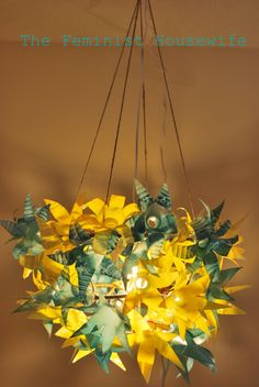 The Feminist Housewife: Plastic Bottle Chandelier Tutorial