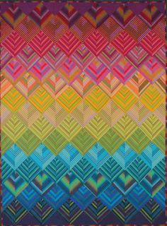 Kaffe Fassett woven stripes quilt