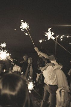 I see a lot of pictures with people lighting sparklers when the bride and groom leave.