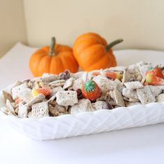 Yum! Pumpkin Spice Trail Mix -- seasonal spice for a fall party. Get the recipe from Country Chic Cottage.