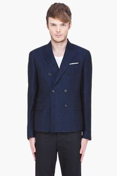 NEIL BARRETT naby blue Double Breasted Slim blazer