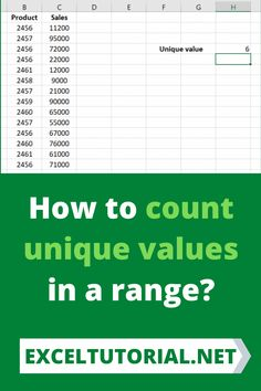 How to count unique values in a range. . #Excel #microsoftexcel #Exceltutorial #Exceltutorials #Exceltutor #tutorialexcel #microsofttrainingexcel #microsoftexceltips #Excelformulas #Excelvba #Exceltips #Exceltipsandtricks #Excelvideo #Excelshorcuts Excel Formulas, Excel For Beginners, Microsoft Excel, You Can Do, Counting, Computers, The Help, Range, Learning