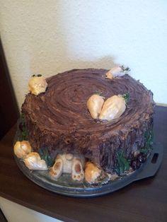 Baumstamm torte fondant