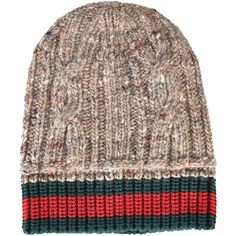 d17da14f59c Gucci Web Stripe Beanie ( 150) ❤ liked on Polyvore featuring men s fashion