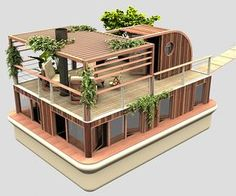 From Architecture & Design Casas Containers, Floating House, Sims House, Shipping Container Homes, Tiny House Design, Earthship, Interior Architecture, Amazing Architecture, Outdoor Furniture Sets