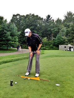 """August 29, 2013: """"#FittingMatters. @DerekErnst7 testing a Milled Anser 4. Custom-built to help slow rotation and keep hands neutral,"""" Ping Golf (@PingTour) explained about this putting practice session with Derek Ernst at the Deutsche Bank Championship."""