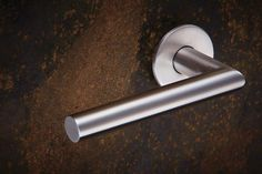 3570 - Modric lever handles on concealed Quadaxial fixing roses by Allgood plc Door Accessories, Door Furniture, Door Handles, Roses, Stainless Steel, Pink, Door Knobs, Rose, Door Knob