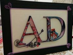 order ready! #letter frame