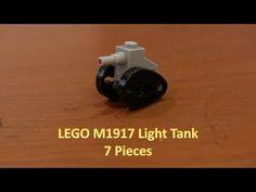 How To Build A Mini LEGO M1917 Light Tank 7 Pieces Lego Soldiers, Micro Lego, Battle Droid, Lego Military, Lego War, Legos, Darth Vader, Mini, Building