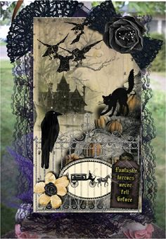 Halloween Tag side 1 - Scrapbook.com