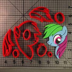 My Little Pony- Rainbow Dash Cookie Cutter Set JBCookieCutters.com customizes moldings, cookie cutters, cookie cutter, cutters, cutter, silicone mold, silicone molds, stencil, stencils, baking supplies, baking
