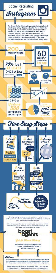 Social Recruting with Instagram #infografia #infographic #socialmedia http://www.logicspice.co.uk/search-engine-optimization/