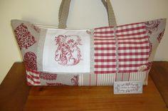 Sac à tricot monogramme B brodé machine esprit chalet doublé toile à matelas tons assortis : Autres sacs par l-atelier-de-diane