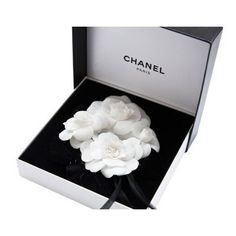 Chanel camellia cluster pin