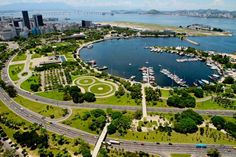 Aterro do Flamengo has over 190 different specimen of trees and was a project of the landscapist Burle Marx, Rio de Janeiro, Brazil