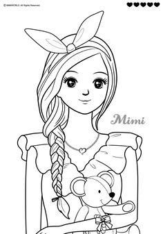헤어디자이너 미미 색칠공부 / 색칠공부 그림도안 : 네이버 블로그 Barbie Drawing, Doll Drawing, Girl Drawing Sketches, Wedding Coloring Pages, Cute Coloring Pages, Coloring Books, Coloring Pictures For Kids, Pictures To Draw, Paper Doll Template
