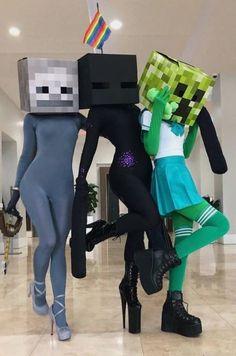 Costume Halloween, Minecraft Halloween Costume, Minecraft Costumes, Teenage Halloween Costumes, Couple Halloween, Halloween Outfits, Girl Costumes, Costumes For Women, Creepers