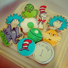 Dr Seuss cookie favors