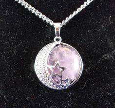 Amethyst with Moon & Stars Pendant