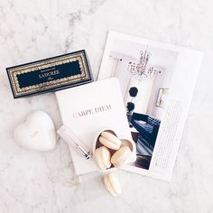Today's mini-luxuries compose of my favorite journal, macarons + an inspiring…