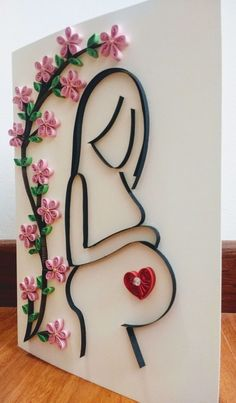 DIY Quilling Crafts for Valentines Day Diy Quilling Crafts, Paper Quilling Designs, Quilling Patterns, Quilling Cards, Paper Crafts, Diy Crafts For Gifts, Crafts For Kids, Quilled Creations, Mothers Day Crafts