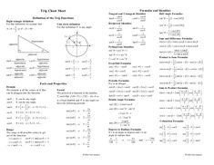 Statistics Cheat Sheet Roth  School    Statistics