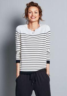 stripe shirt, stripes, stripe fashion, stripes trend, hush   Colourblock Stripe Jumper