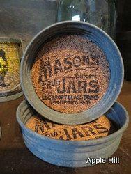 Mason Jar Lid Coasters