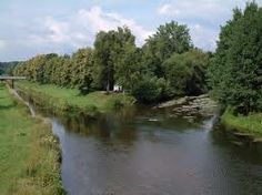"""The Donauzusammenfluss, or """"Danube confluence"""", where the Breg and Brigach unite to form the Danube in Donaueschingen, Germany"""