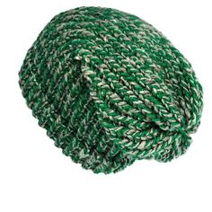 7343e9821d713 Green slouchy hat handmade with soft acrylic   recycled wool