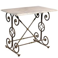Early 19th Century French Iron Butcher Table with Marble Top | 1stdibs.com