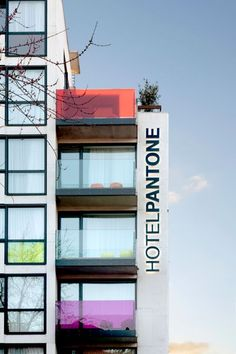 THE PANTONE HOTEL in Belgium, that would be a very colorful and fun vacation spot. Apparently only $80 US a night :)