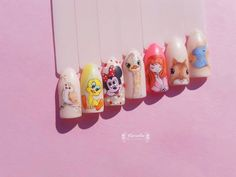 Cartoon nail art painting :-)