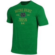 Men's Under Armour Notre Dame Fighting Irish Triblend Tee, Size: Medium, Multicolor
