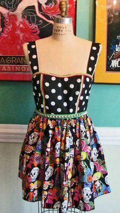 Dia de Los Muertos Dress by DetroitDollface on Etsy, $65.00