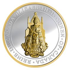 The Great Seal of Canada: Queen Elizabeth II Royal Canadian Mint Fine Silver Coin Canadian Coins, Canada, Elisabeth Ii, Coin Worth, Coins For Sale, Commemorative Coins, Effigy, Silver Bars, Queen Elizabeth Ii