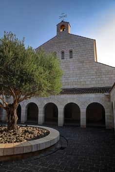 Church of the Multiplication of the Loaves and Fishes, in Tabgha, on the northwest shore of the Sea of Galilee in Israel