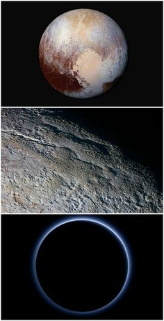 New NASA images show Pluto's red ice and blue skies. Amazing!
