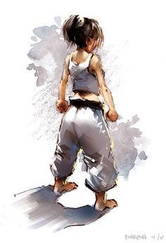 """Karate girl"" by Pierrick.deviantart.com on @deviantART  Need these for our new dojo! ~K.H."