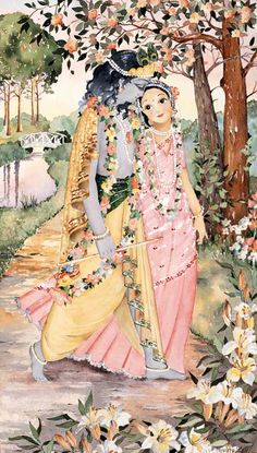 Radha Krishna watercolor painting by Anna Doherty. Krishna Leela, Radha Krishna Love, Lord Krishna Images, Radha Krishna Pictures, Krishna Painting, Krishna Drawing, Bhagavad Gita, Hindu Art, Indian Gods