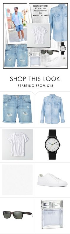"""A PERFECT MAN!!!"" by kskafida ❤ liked on Polyvore featuring MANGO MAN, Visvim, American Eagle Outfitters, Skagen, The Kooples, Ray-Ban, BOSS Hugo Boss, men's fashion and menswear"