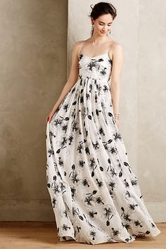 Beaded Hibiscus Gown #anthropologie