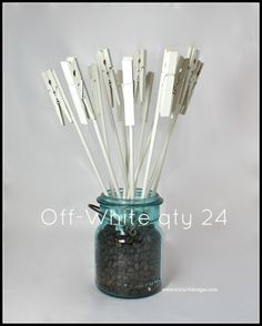 Table Number Holder Clothes Pin on a Stick by tricia16designs, $36.00