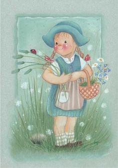Mignonnes illustrations de Kaarina Toivanen Illustration Mignonne, Cute Illustration, Art Papillon, Art Fantaisiste, Scandinavian Kids, Creation Photo, Doll Eyes, Butterfly Art, Whimsical Art