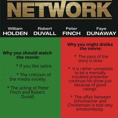 Quick review of Network by Sidney Lumet #network #satire #sidneylumet #moviereview #movies #williamholden #robertduvall Robert Duvall, Cult Movies, Grafik Design, Vintage Movies, Satire, Poster, Let It Be, Photo And Video, Instagram