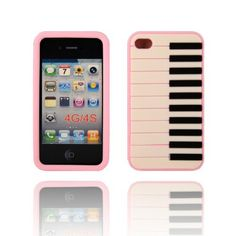 BYG Pink Piano Keyboard on Black Flexible Silicone Soft Skin Case Cover for Apple Iphone 4 4G 4S + Gift 1pcs Phone Radiation Protection Sticker by Piano devise, http://www.amazon.com/dp/B00CMSFM5Q/ref=cm_sw_r_pi_dp_fOPHrb0PT7RTA