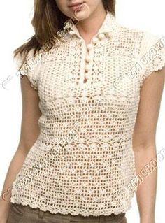The proposal - let's tie 10 Crochet Woman, Love Crochet, Crochet For Kids, Knit Crochet, Blouses For Women, Sweaters For Women, Crochet Shirt, Crochet Magazine, Crochet Clothes