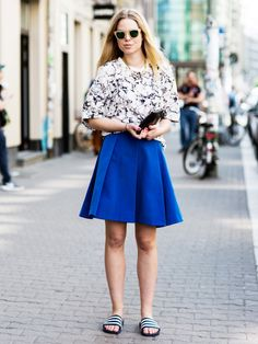 Tip Of The Day: What To Wear With A Circle Skirt via @WhoWhatWear