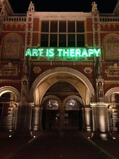 """Art Is Therapy"". Neon Art//Neon LOVE!!"