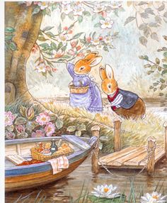 "From ""A Day Out, Foxwood Tales"" by illustrator Cynthia Paterson and author Brian Paterson"